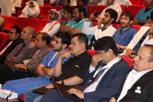 جانب من الحضور في اليوم العلمي الأول .JPG -